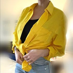 Vintage Yellow Button Down by Jones New York